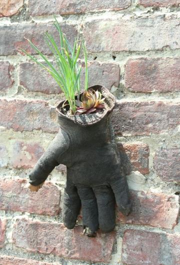 manualidades con hojas de plantas para el jardin