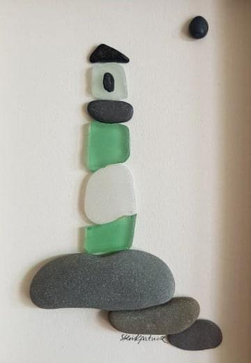 manualidades con piedras de mar hechas a mano