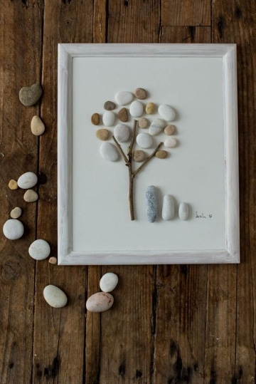 manualidades con piedras de mar sencillas