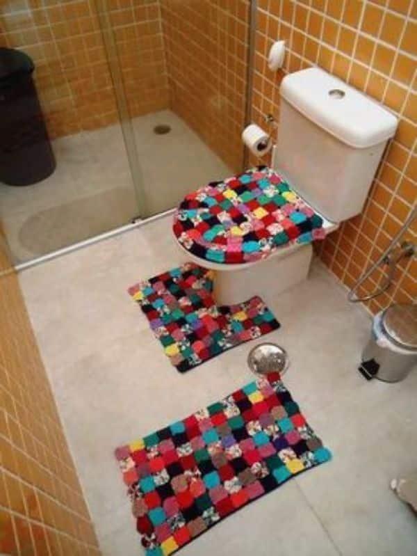 Manualidades con restos de telas para la casa para el baño