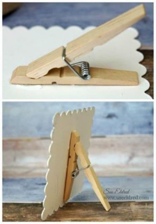 cosas hechas con pinzas de madera ingeniosas