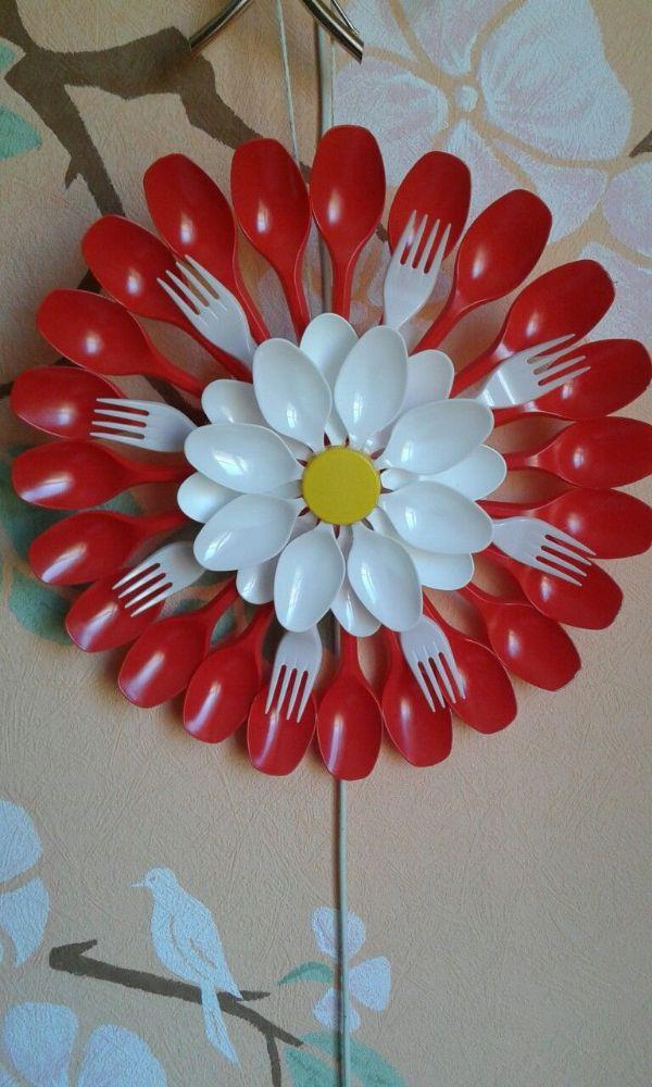 manualidades con cucharas desechables para niños