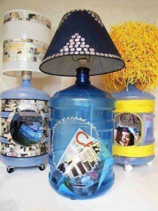 manualidades con garrafones de agua para la casa