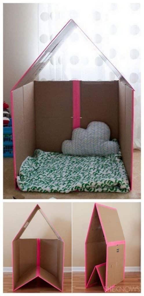 cosas hechas con carton para niños