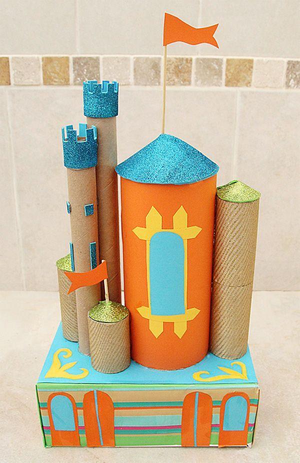 ideas de castillo con rollos de papel
