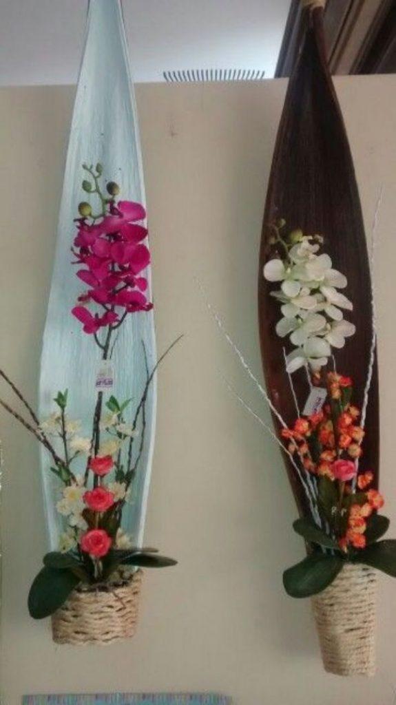 manualidades con hojas de palmeras secas para decorar