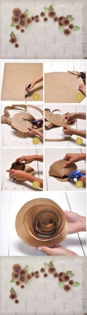 manualidades con papel kraft para hacer