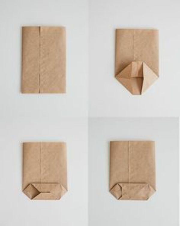 manualidades con papel kraft paso a paso
