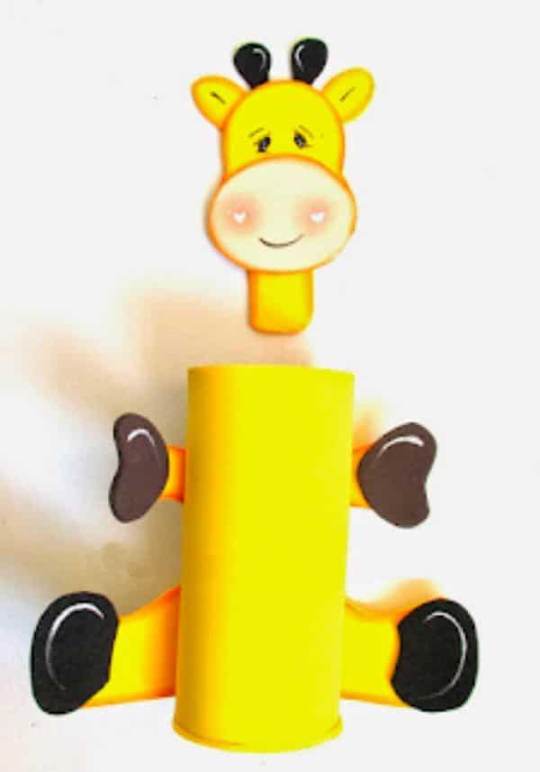 animalitos con rollos de papel higiénico para niños
