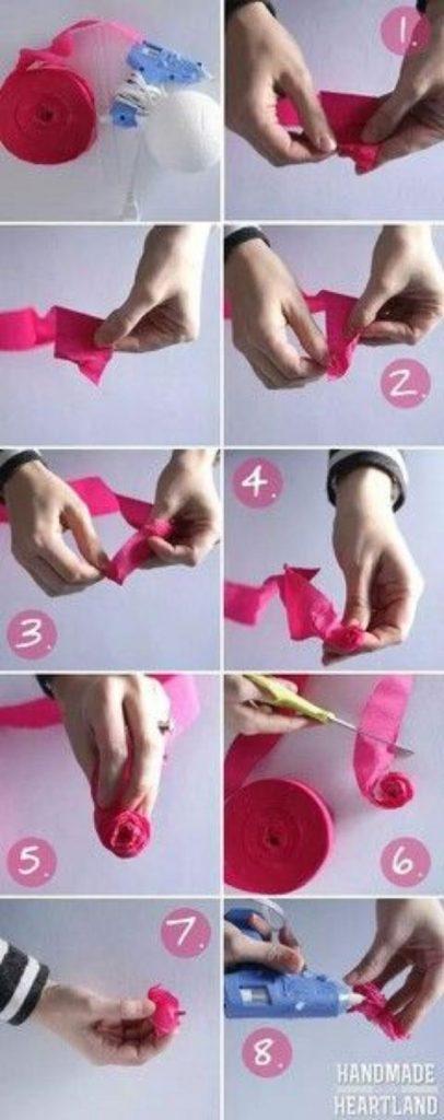 como hacer manualidades con cinta de agua