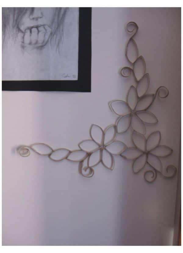 flores con tubo de papel higiénico simples
