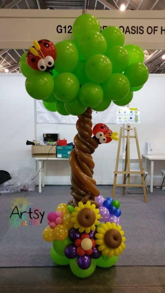 manualidades con globos largos para la casa