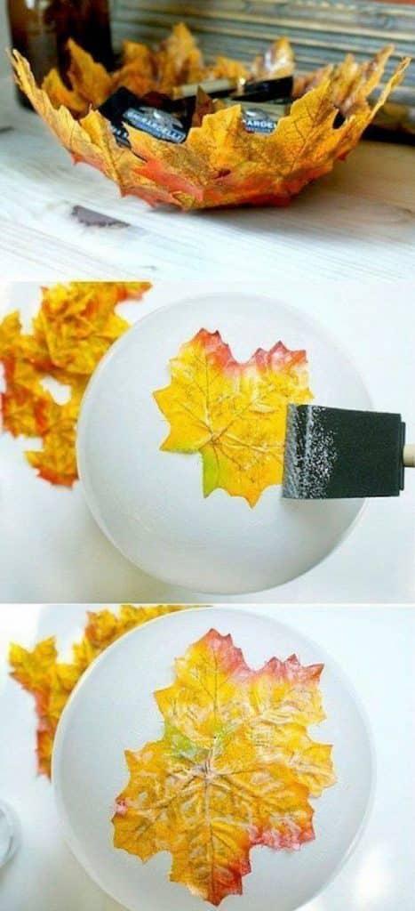 manualidades con hojas seca creativas