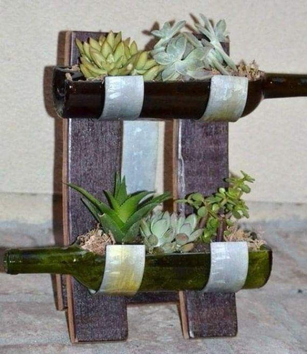 Floreros de botellas plasticas paso a paso