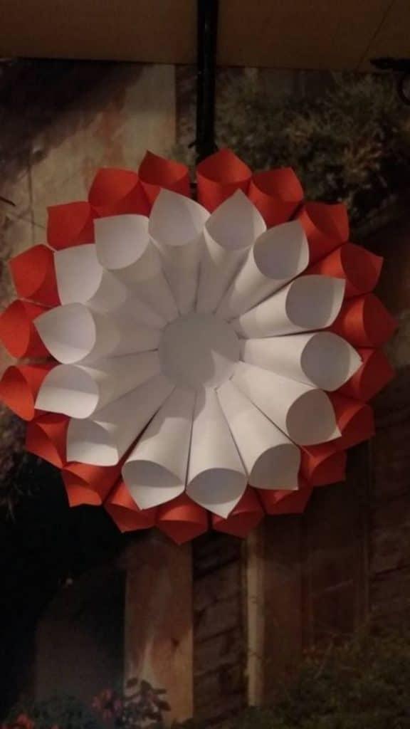 adornos colgantes para fiestas patrias con papel