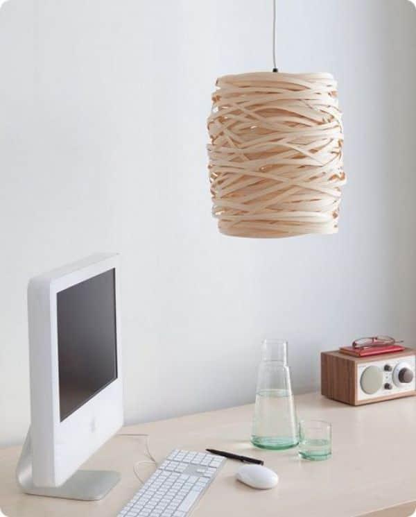 lamparas colgantes hechas a mano con cuerda de yute