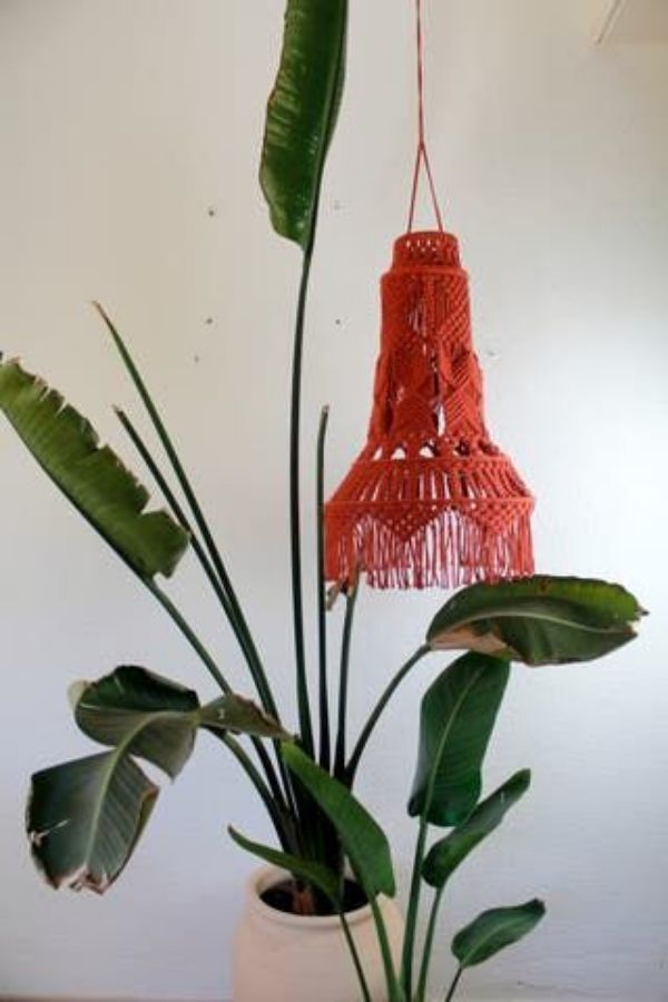lamparas colgantes hechas a mano con tela