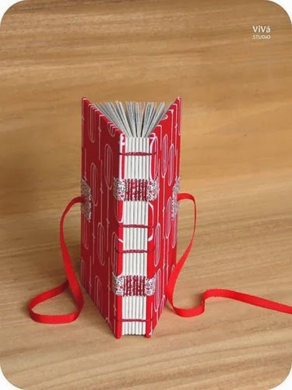 libros con papel reciclado decoracion