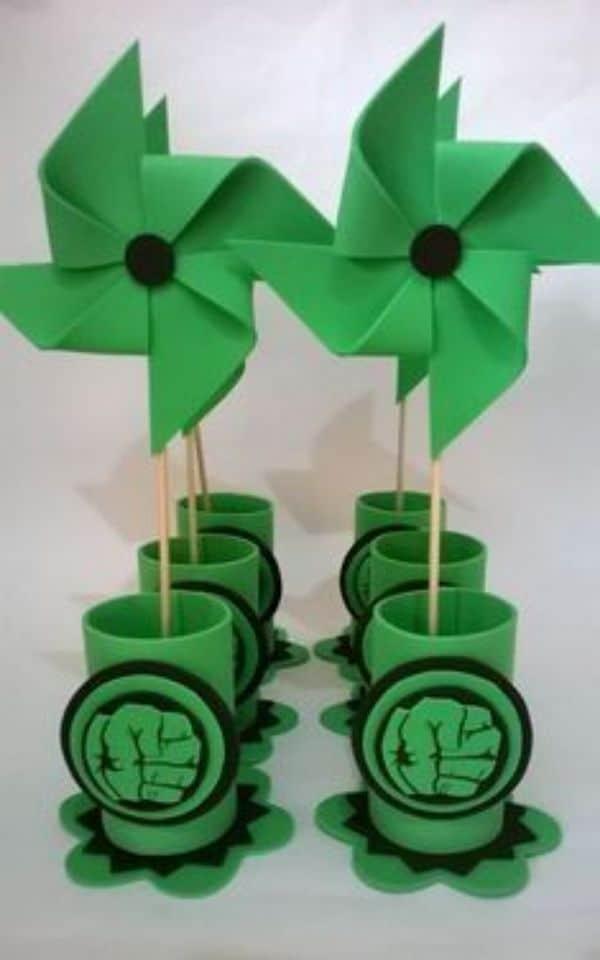 manualidades para fiesta de hulk con cartulina