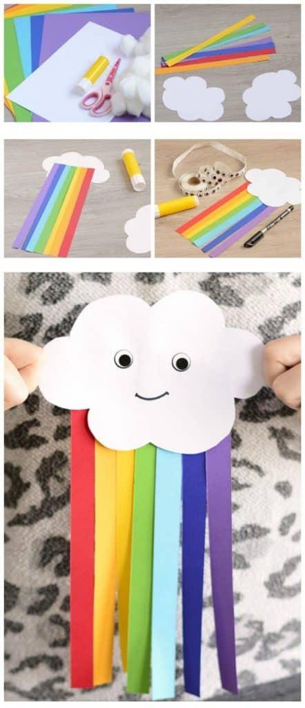 manualidades para niños con papel para el jardin infancia