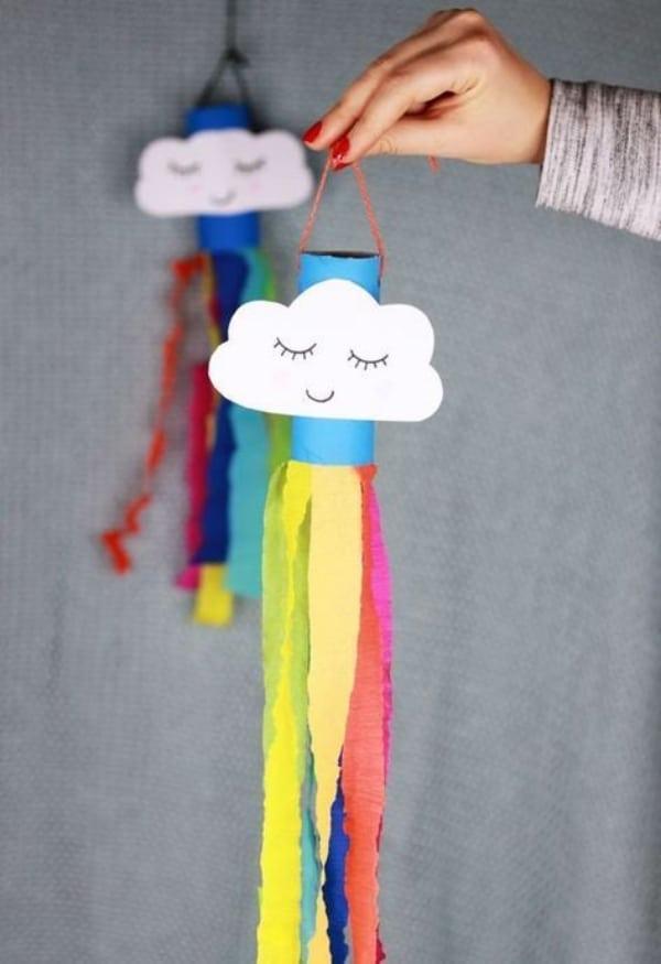 manualidades para niños con papel y rollos de papel higiénico