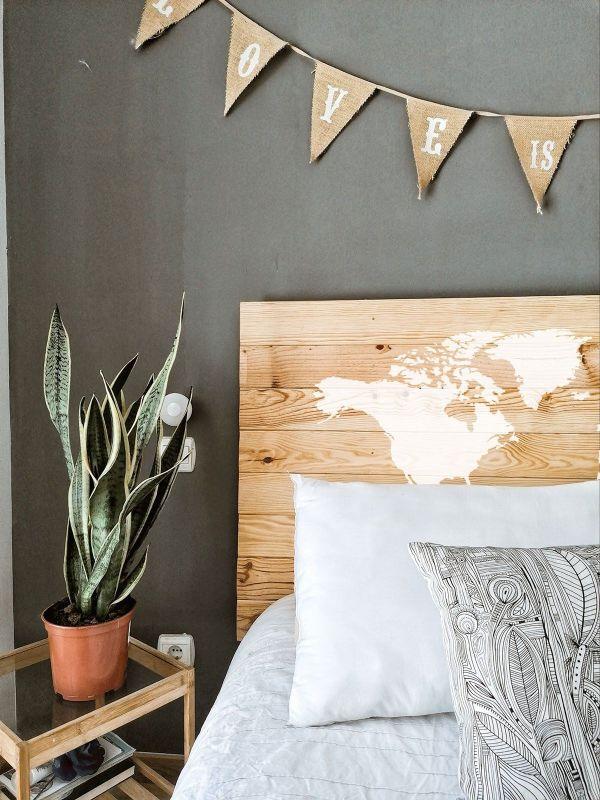 mapas de madera para pared lindos