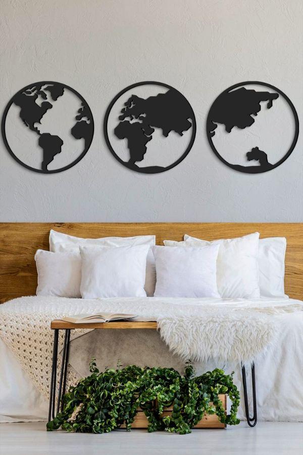 mapas de madera para pared para el cuarto