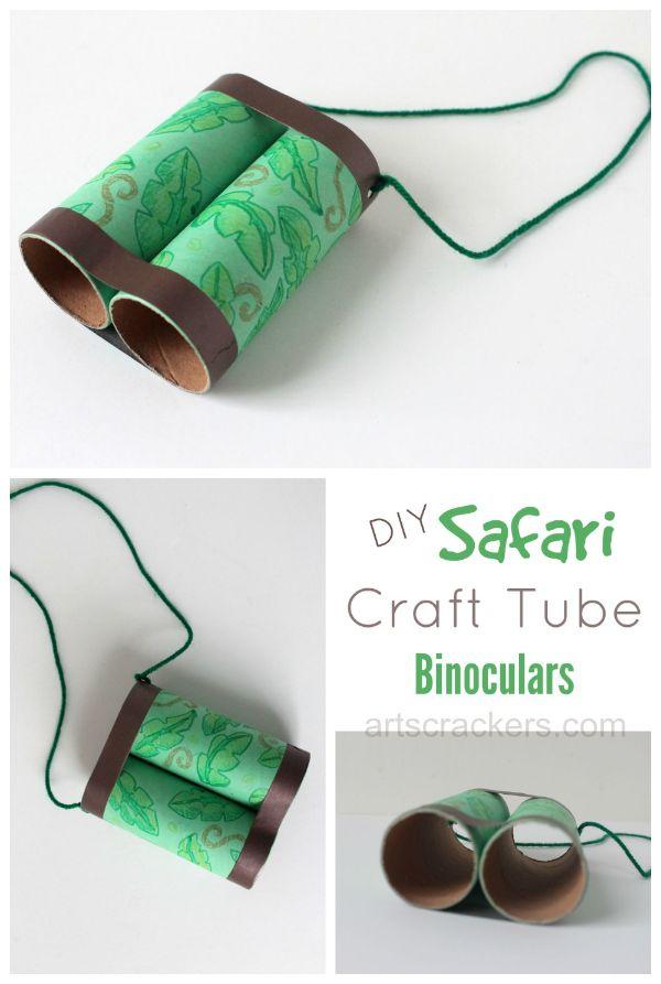 binoculares con tubos de papel higienico sencillos