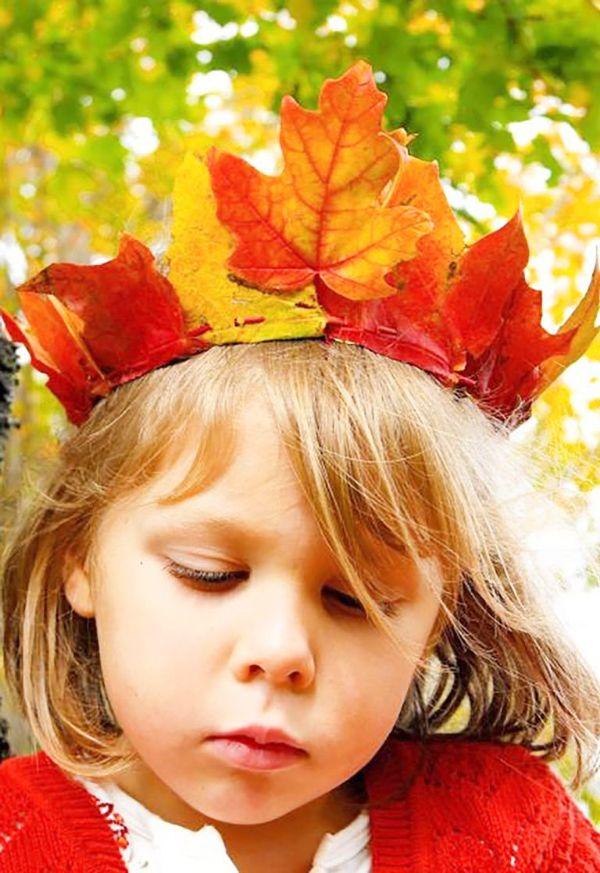manualidades con hojas de otoño divertidas