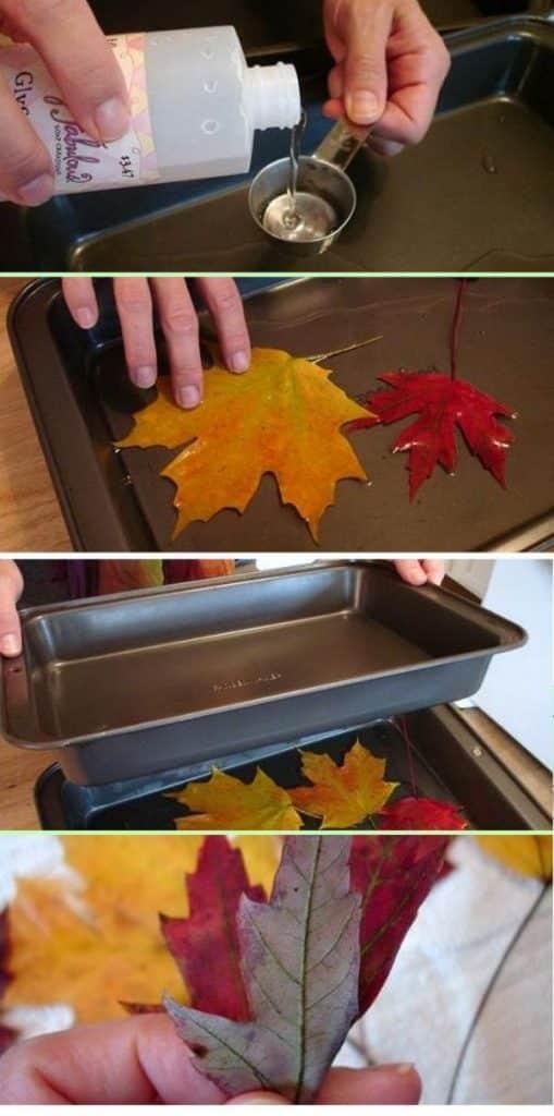 manualidades con hojas de otoño paso a paso