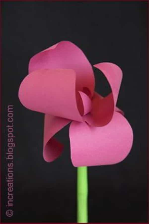 manualidades con hojas iris faciles