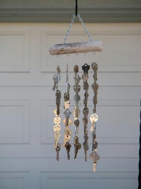 manualidades con llaves viejas para la casa