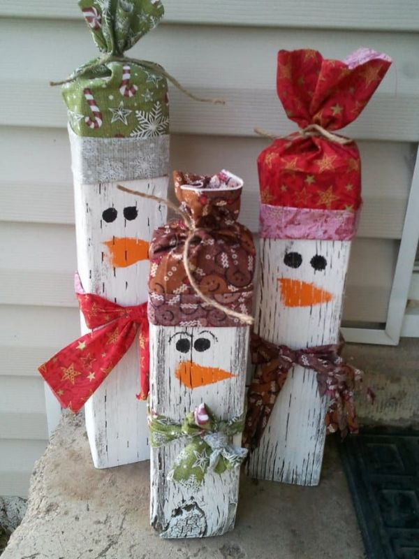 manualidades con retazos de madera para navidad