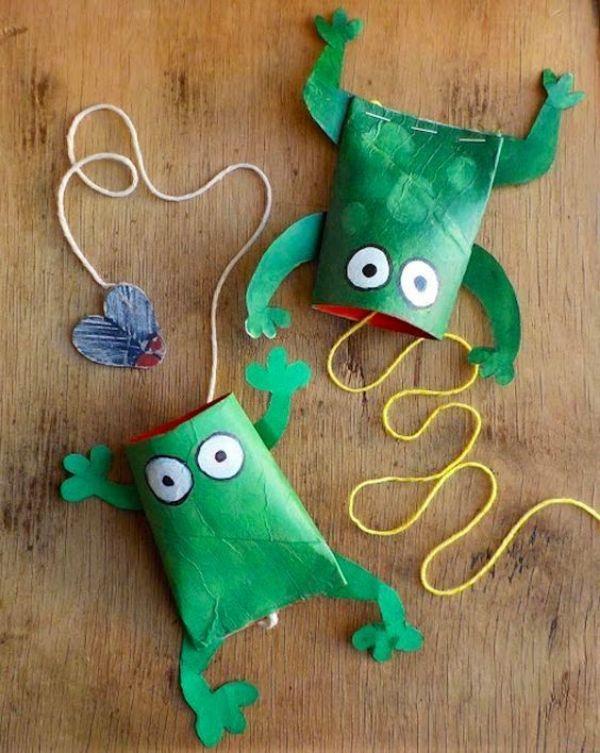 manualidades de reciclaje para niños con tubitos de carton