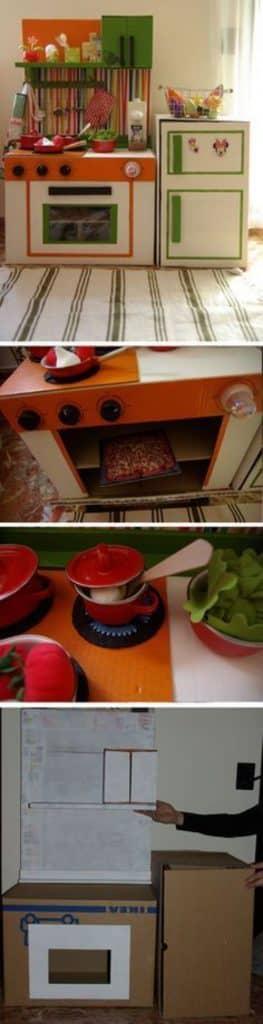 como hacer electrodomésticos de cartón simples