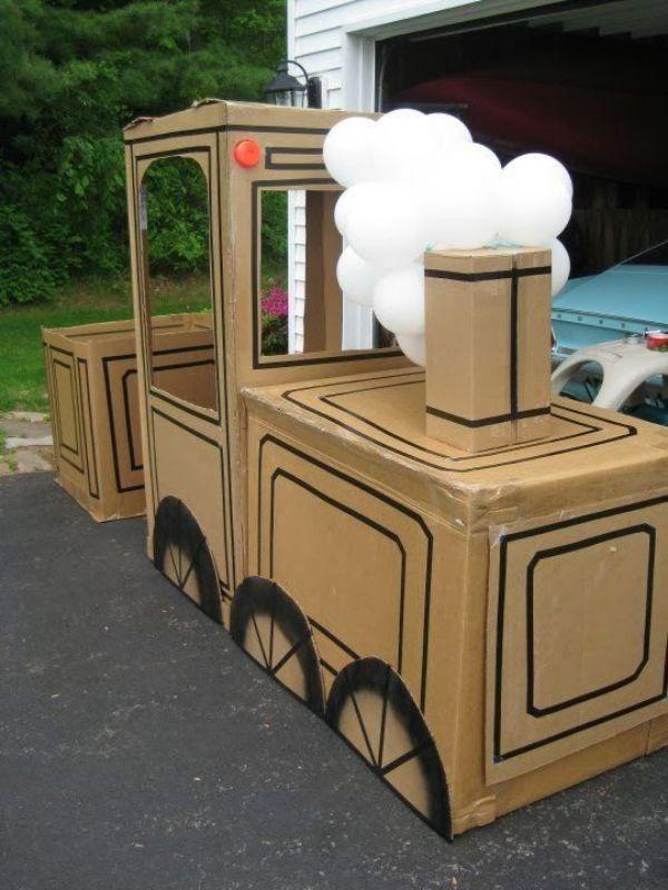 Como hacer tren de carton para chicos