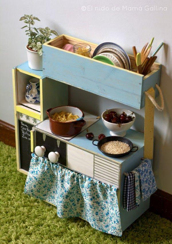 como hacer una cocinita de carton para niños