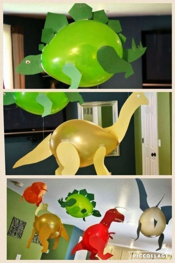 dinosaurios hechos con globos paso a paso