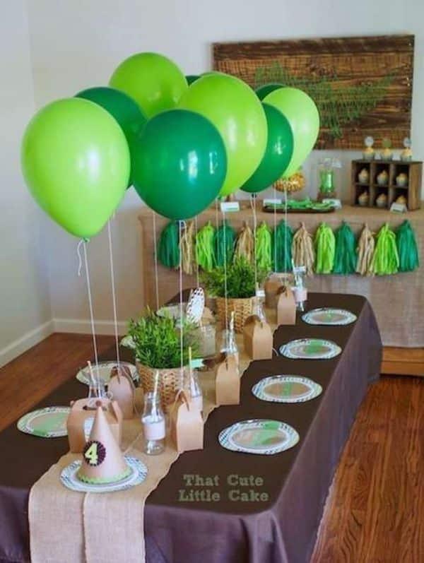 globos de dinosaurios para cumpleaños centros de mesa