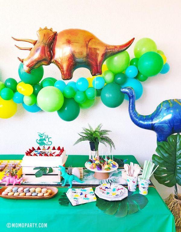 globos de dinosaurios para cumpleaños decorativos