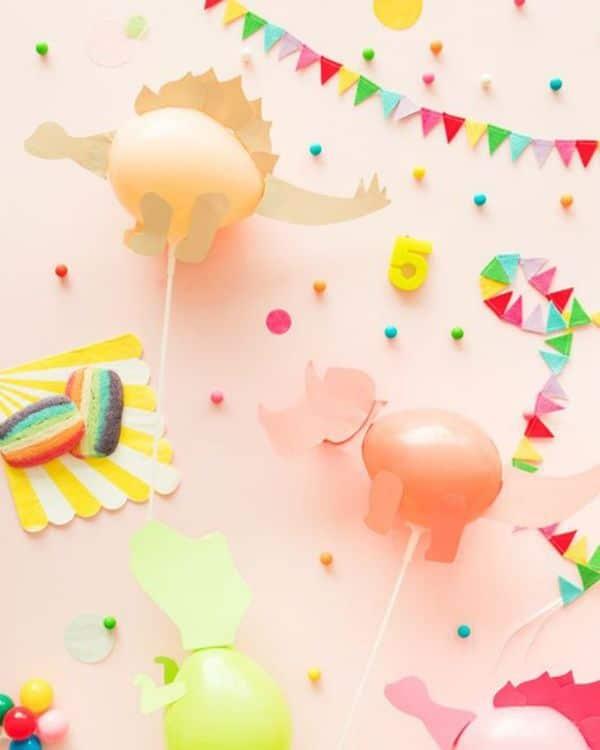 globos de dinosaurios para cumpleaños diy
