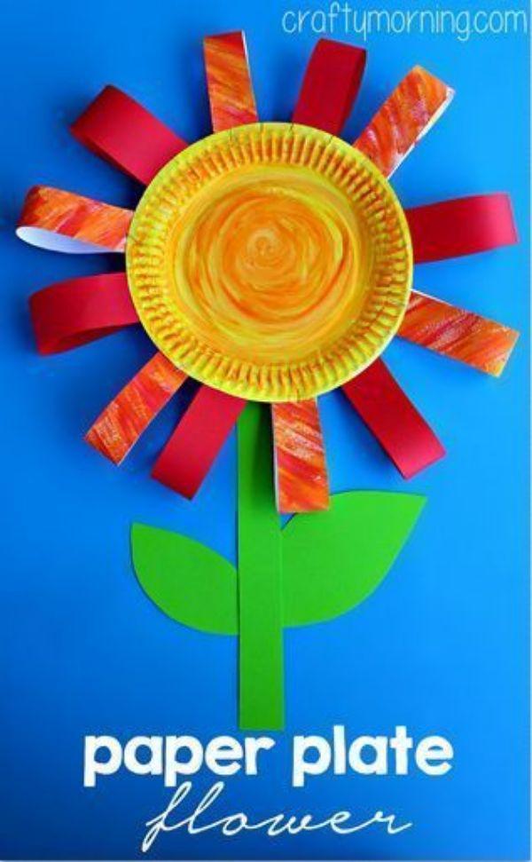ideas de flores con platos desechables