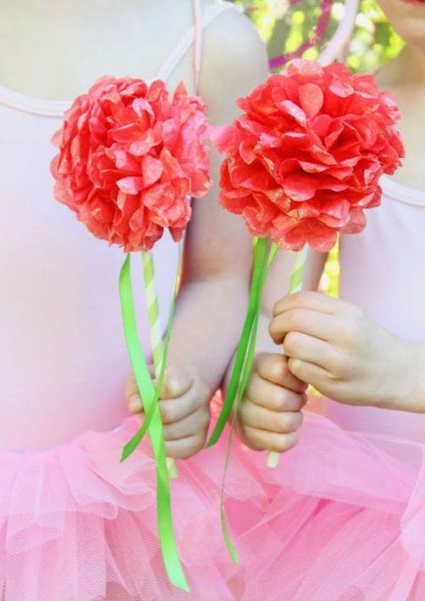 manualidades con papel glase flores