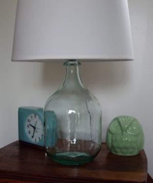 manualidades con damajuanas de vidrio para el cuarto