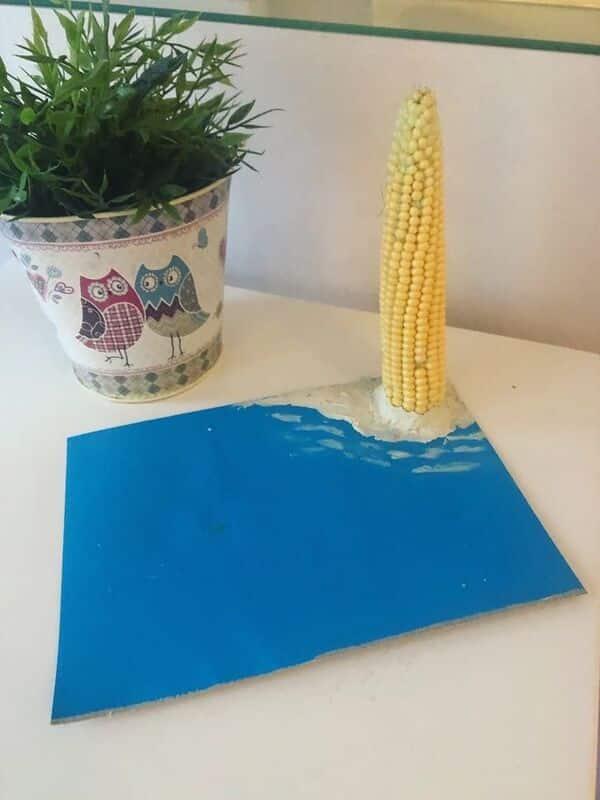 manualidades con granos de maíz