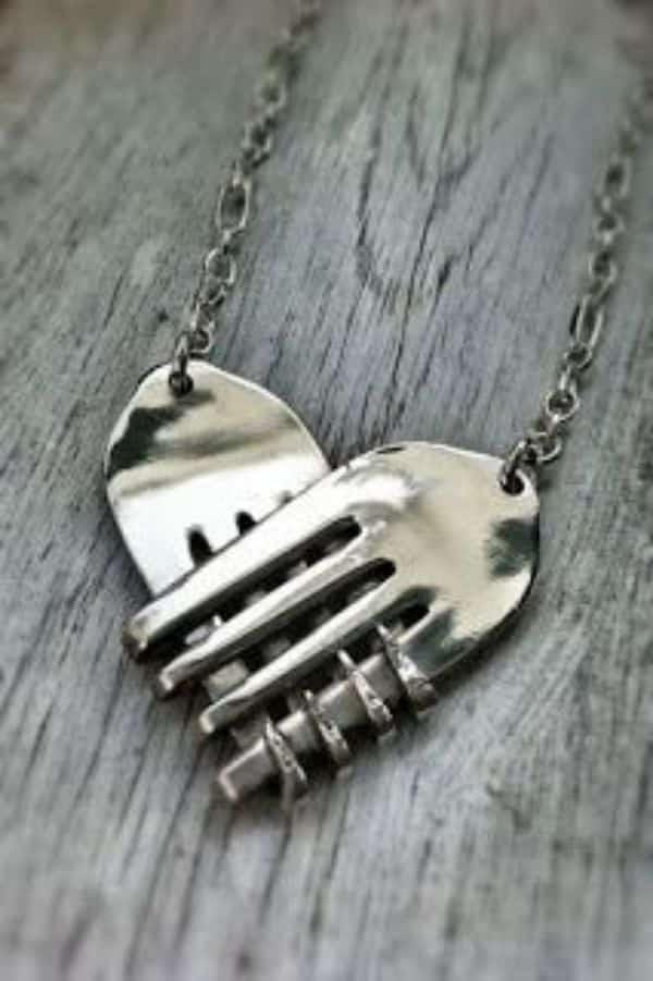 manualidades con tenedores de metal adornos