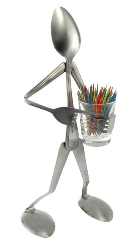 manualidades con tenedores de metal divertidas