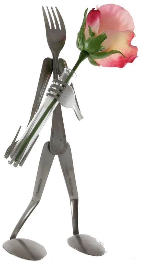 manualidades con tenedores de metal paso a paso