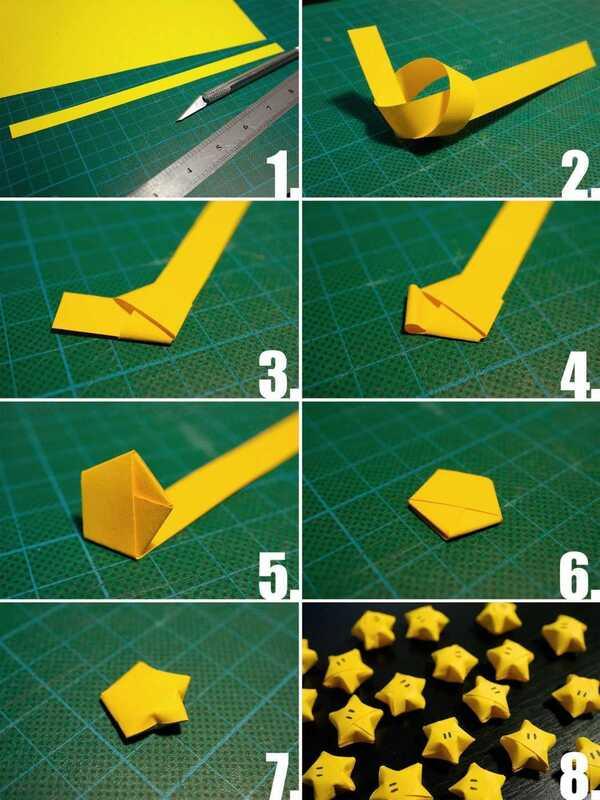 estrellas hechas de papel sencillas