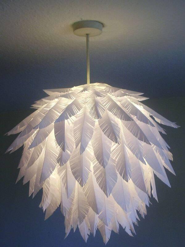 lámparas hechas de papel paso a paso